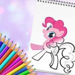 Jeu Cute Pony Coloring Book
