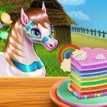 Jeu Pony Cooking Rainbow Cake