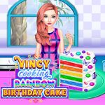 Vincy Cooking Rainbow Birthday Cake