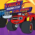 Jeu Blaze Monster Truck Coloring Book
