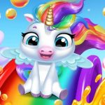 Glitter Unicorn Dress Up Girls