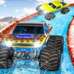 Jeu Monster Truck Water Surfing : Truck Racing Games