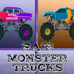 Jeu Monster Trucks Pair