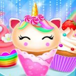Jeu Unicorn Mermaid Cupcake Cooking Design